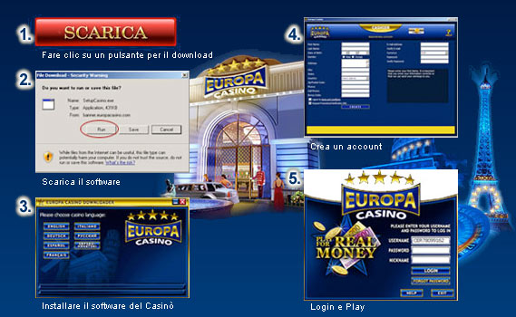 Europa casino download program